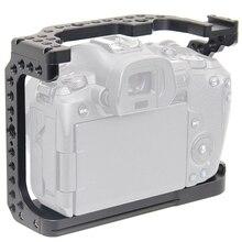 FFYY Cage de caméra pour Canon EOS R avec trous de filetage pour fixation de Microphone à bras magique