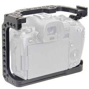 Image 1 - FFYY Cage de caméra pour Canon EOS R avec trous de filetage pour fixation de Microphone à bras magique