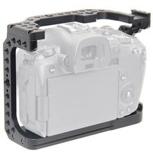 FFYY מצלמה כלוב עבור Canon EOS R עם קר נעל הר חוט חורים עבור קסם זרוע מיקרופון לצרף