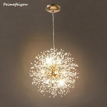 lampara lustre Crystal Lighting pendant lights Cristal nordic Lamp LED Hanging Restaurant bedroom Light living room decoration