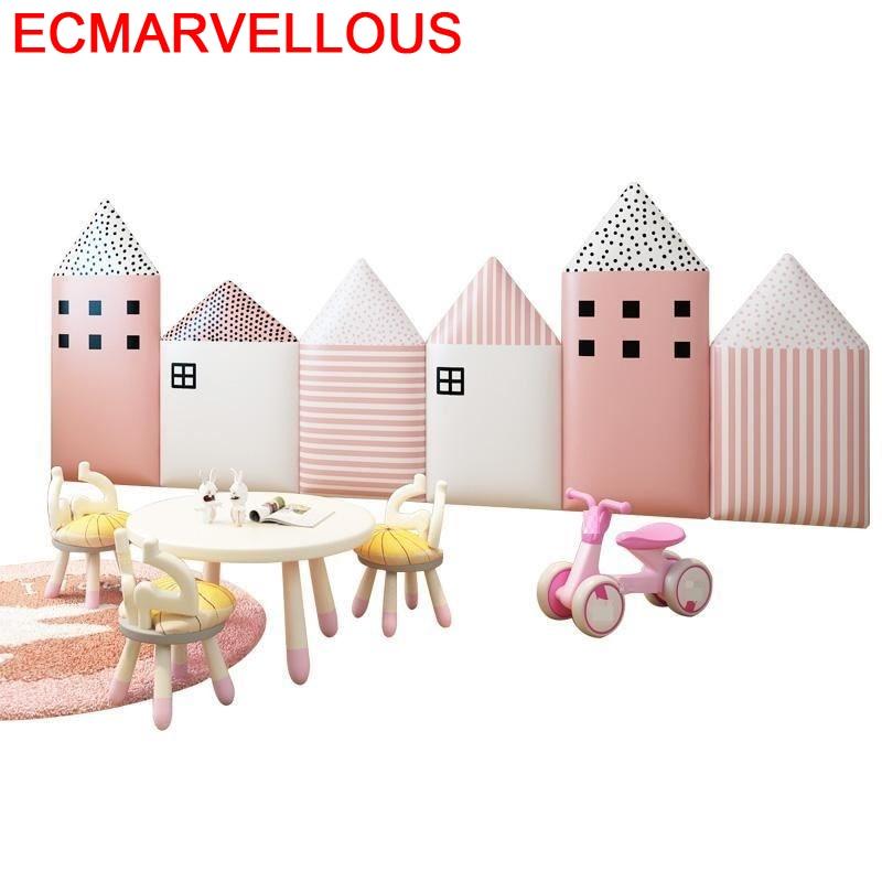 Chambre A Coucher Enfant Cabeceira Cabezero Polipiel Bed Children Tete Lit 3d Wall Sticker Cabecero Cama De Pared Headboard