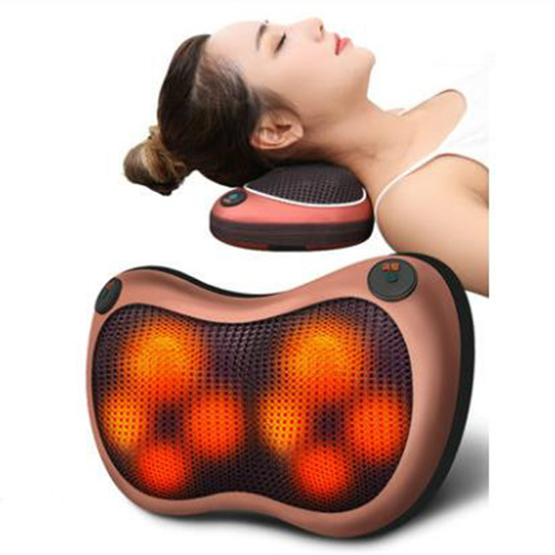 Home Car Dual-use Multifunction Dish Massager Car Massage Pillow Cervical Lumbar Leg Massager Infrared Heating Body Massager