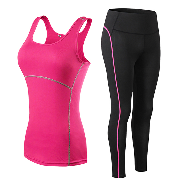 Fitness Gym set with Leggings and Sports Bra 2