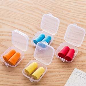 Ear-Plugs Soft-Sponge Ear-Protection Sound-Insulation with Storage-Box
