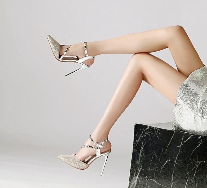 femininos sandálias sexy moda saltos altos 12cm