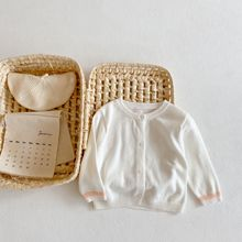 Shirt Sweaters Cardigan Baby-Girls Summer Cotton Solid Sun-Protection Knitting Long-Sleeves
