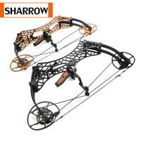 1PC Archery Compound Bow Triangle Short Axis Adjustable 350FPS Hunting Fishing Let off 90% Target For Outdoor Shooting