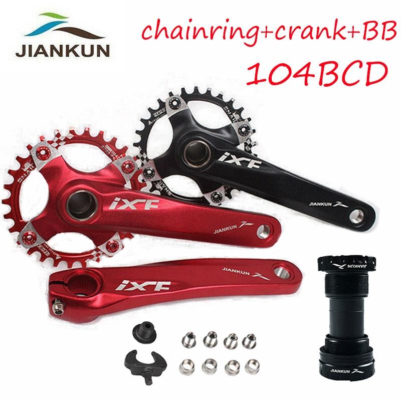 MTB Bike Crankset With BB 104BCD 32-42T Chainring 170mm Crank fit Shimano SRAM