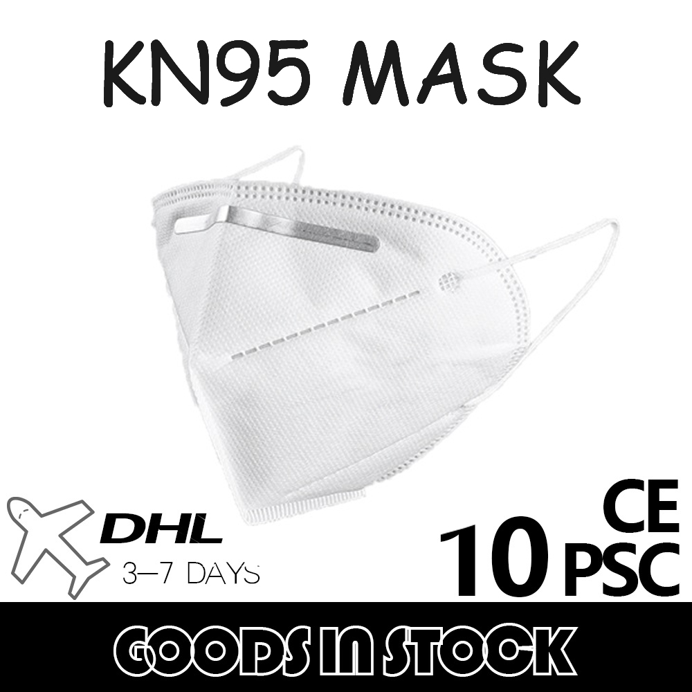 10 Pcs KN95 Face Masks  Anti Dust Bacterial N95 Mask 4-Layer PM2.5 Dustproof Protective 95% Filtration As KN94 KN94 FFP2