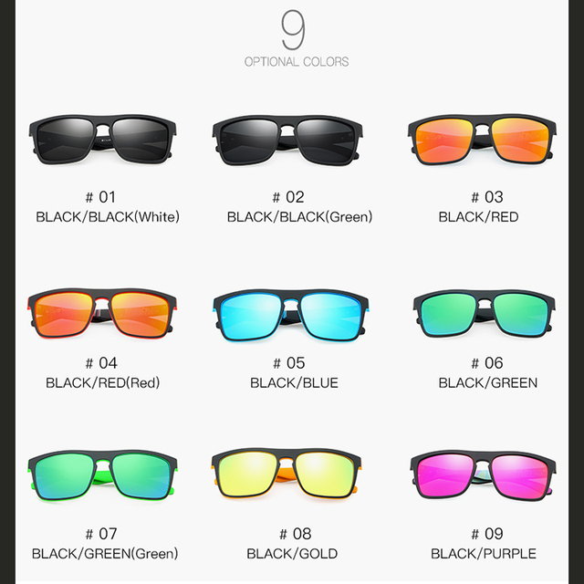 2020 Best Polarized Fishing Sunglasses for Men Designer Fashion Flat Top Golf Floating Sunglasses UV400 Protection 5