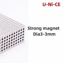 1000pcs 3x3mm N35 Mini Super strong powerful round rare earth neodymium magnet permanent magnets 3 * 3mm