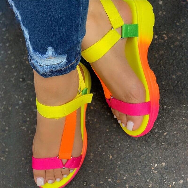 Sarairis 2020 INS Hot Sale multi colors Big size 43 casual Shoes Woman Flat Dropship Comfortable Sandals Female