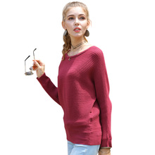 Loose Sweater Women Pullover Knitted Cotton Batwing Sleeve Knit Top Autumn Sweaters Casual Ladies Bat Sleeve Female Jumper Tops yellow sexy pullover bat sleeves loose jumper