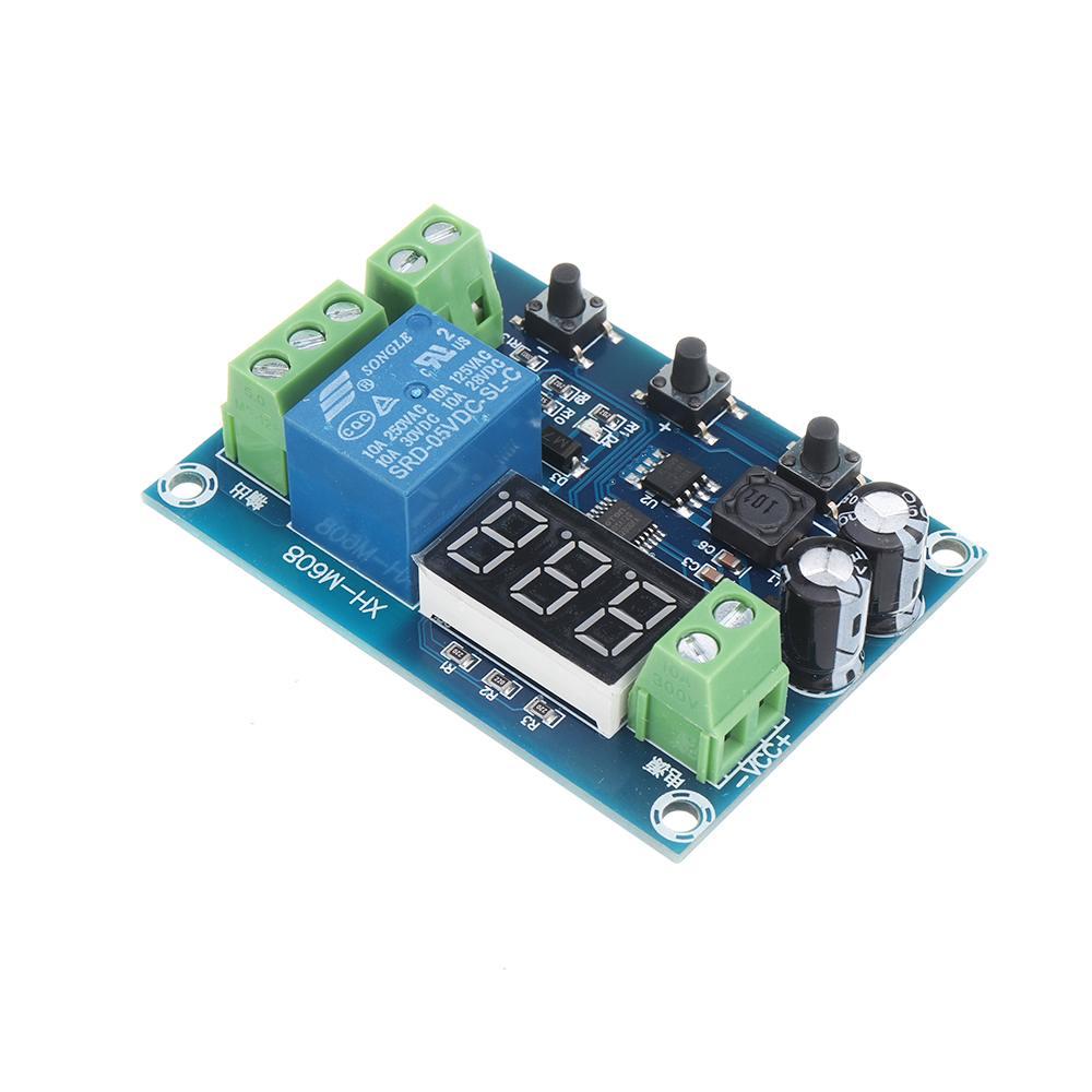DC6-40V XH-M608 Battery Charge Discharge Module Integrated Voltmeter Undervoltage Overvoltage Protection Timing Discharge Board