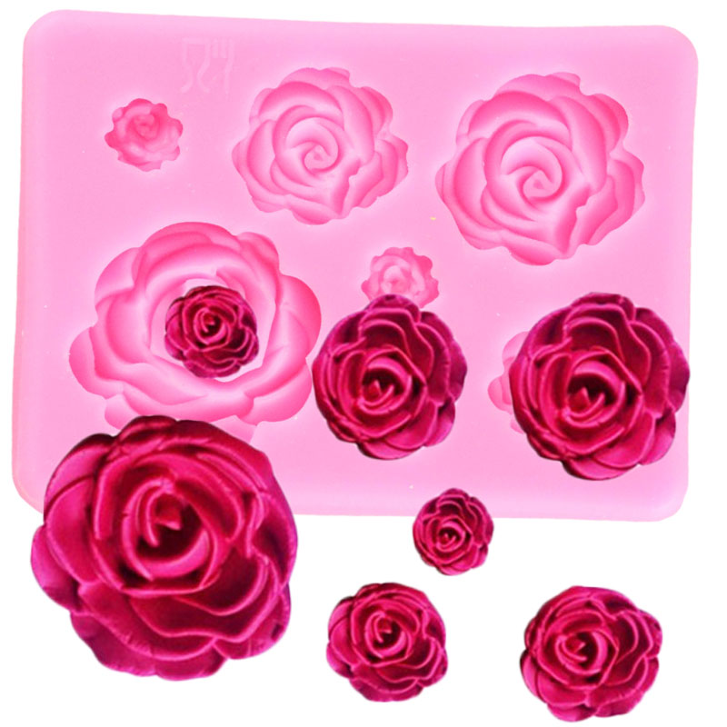 Rose Flower Silicone Molds Wedding Cupcake Topper Fondant Cake Decorating Tools Sugarcraft Candy Clay Chocolate Gumpaste Moulds|Clay Extruders|   - AliExpress