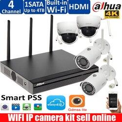 Dahua bezprzewodowy wifi NVR4104HS-W-4KS2 System kamer z 4 sztuk 3MP IP bezprzewodowy IR Night Vision wodoodporna zewnętrzne Wifi kamery