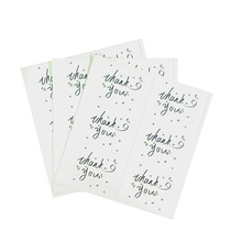 60Pcs/pack Rectangular Thank You Seal Sticker Student DIY Work Stickers For Thanksgiving Days