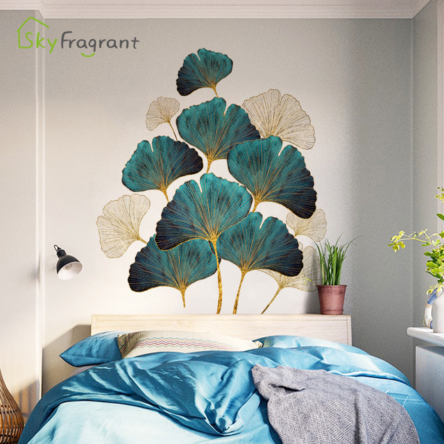 Fresh Leaves Wall Sticker Mural 6