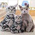 Simulation Plush Cat Pillows Soft Stuffed Dolls Toy Cartoon Animal Cushion Sofa Bed Decor Lovely Plush Toys For Kids Kawaii Cute