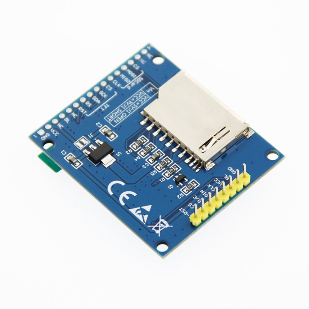 1.8inch TFT SPI Serial LCD Resolution 128*160 1.8inch LCD Display Module With SD Card Slot 2 White LED Driver IC ST7735S