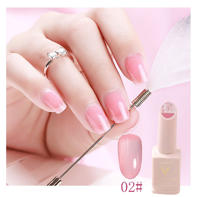 Tender Pink Cherry Blossom Jade Removable Nail Polish Gel Nail Jelly Powder Nail Supplies Jelly Glue Nail Supplies TSLM1 3