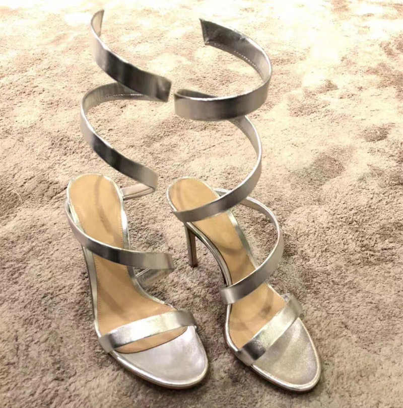 Novo sandálias de salto alto mulher 2020 tornozelo cinta sapatos mulher gladiador sandalias mujer twining sandália feminina sexy buty damskie