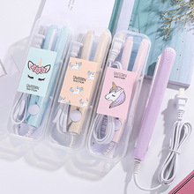 New Mini Hair Straightener Curling hair clipper Hair Crimper Curling Iron curly hair iron Hair Straightener Brush  Flat Iron