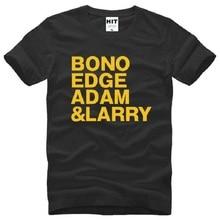 Rock Band U2 T Shirt BONO EDGE ADAM LARRY Shirts Men Short Sleeve O Neck Cotton New Alternative Fashion Tops Tee