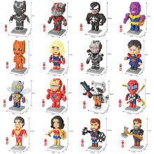Marvel Avengers Super Heroes Legoing Endgame iron man Captain America Spider DIY Diamond Blocks Toy Bouwstenen Speelgoed no box(China)