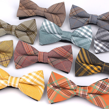 Men Plaid Bowtie Casual Bow tie For Women Uniform Collar ButterfBowknot Adult Ties Cravats ChildrenBowties