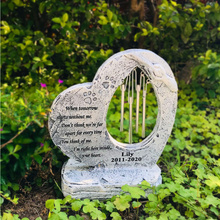 Embellishment Memorial-Stone with Wind-Chimes Outdoor Indoor-Display Pet-Gift