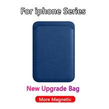 Sac porte-cartes en cuir véritable pour iPhone 12 Pro Max 12 Mini Magsafing Magnet, nouvelle mise à jour