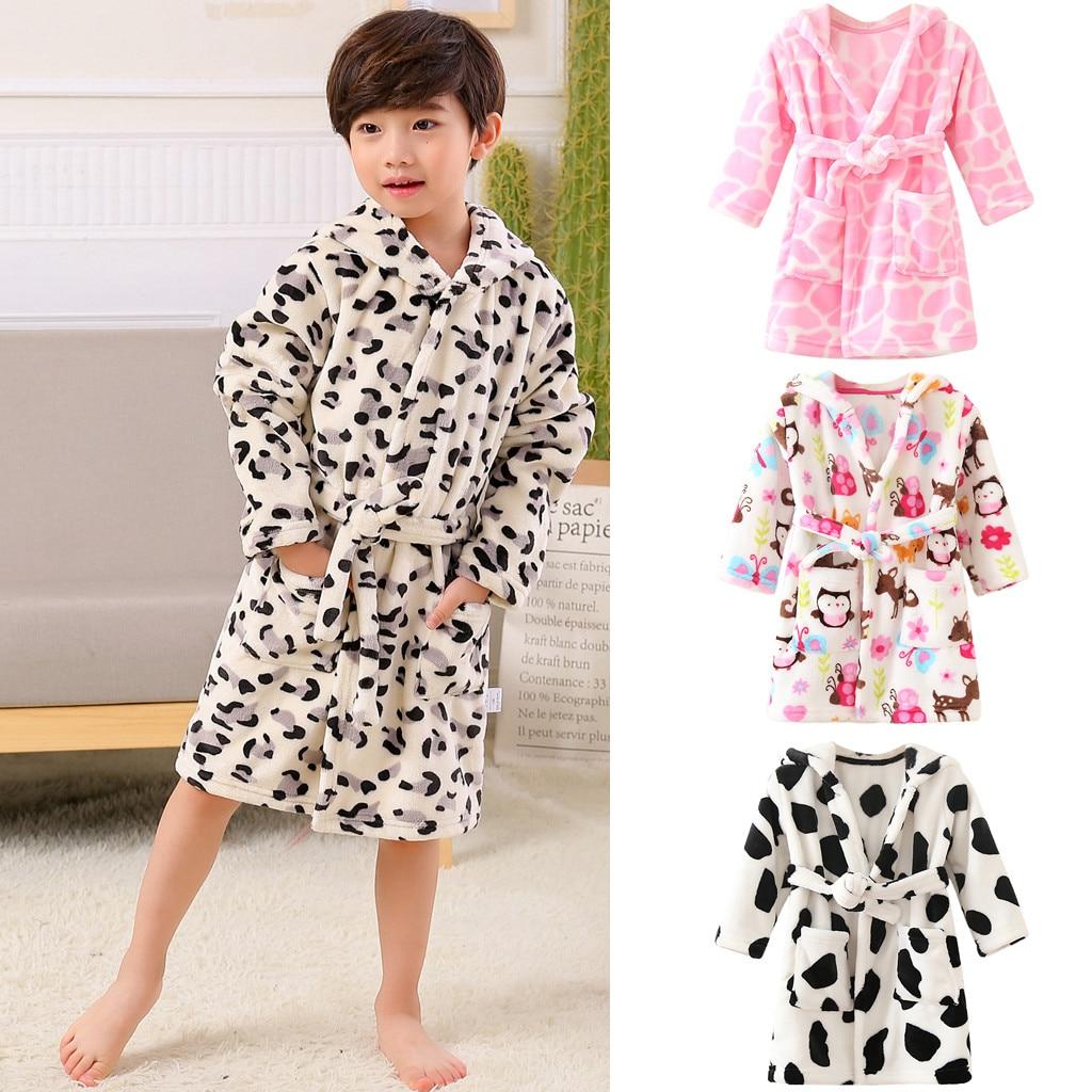 Cute Cartoon Baby Kids Hooded Bath Towel Toddler Boy Girls Soft Beach Towel Y2