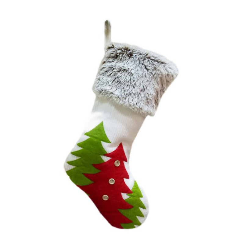 Creative Christmas Stockings Candy Socks Gifts Bag With Hanging Loops Xmas Tree Fireplace Seasonal Decorations