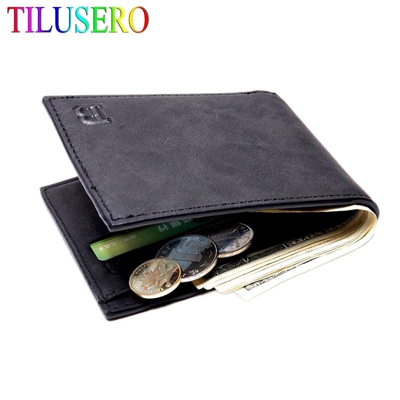 Fashion Men Wallets Small Wallet Men Money Purse Coin Bag Zipper Short Male Wallet Card Holder Slim Purse Money Wallet J014