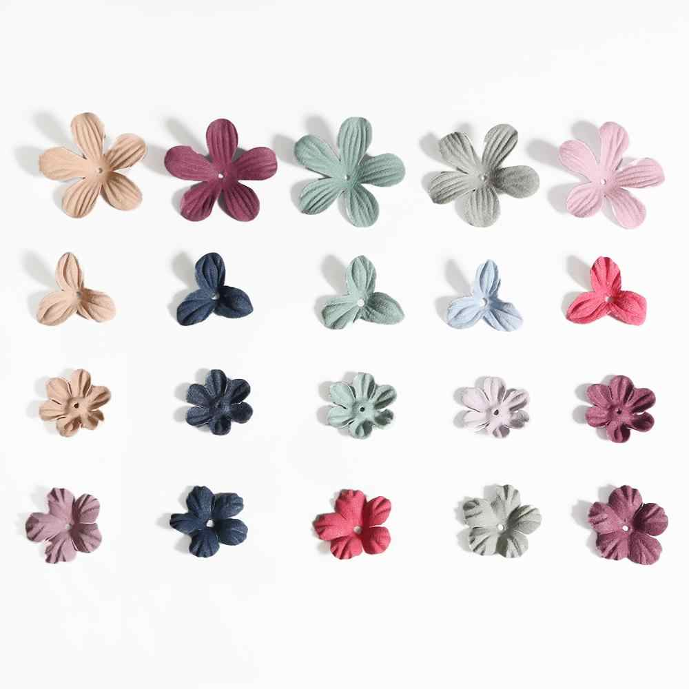 30pcs fabric flowers for DIY Handcraft fashion jewelry accessories earrings necklace brooch hairclip making material supplies