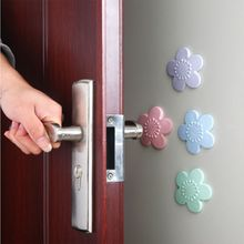 1 Pcs High Quality Silicone Cherry Blossom Shape Door Handle Crash Pad Furniture Accessories Easy To Use Install And Remove
