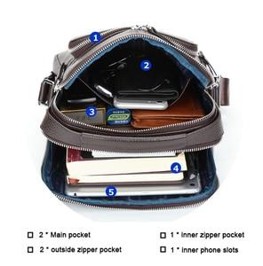 Image 3 - バイソンデニム本革メンズバッグipadハンドバッグ男性メッセンジャーバッグの男のクロスボディショルダーバッグ旅行用バッグN2333