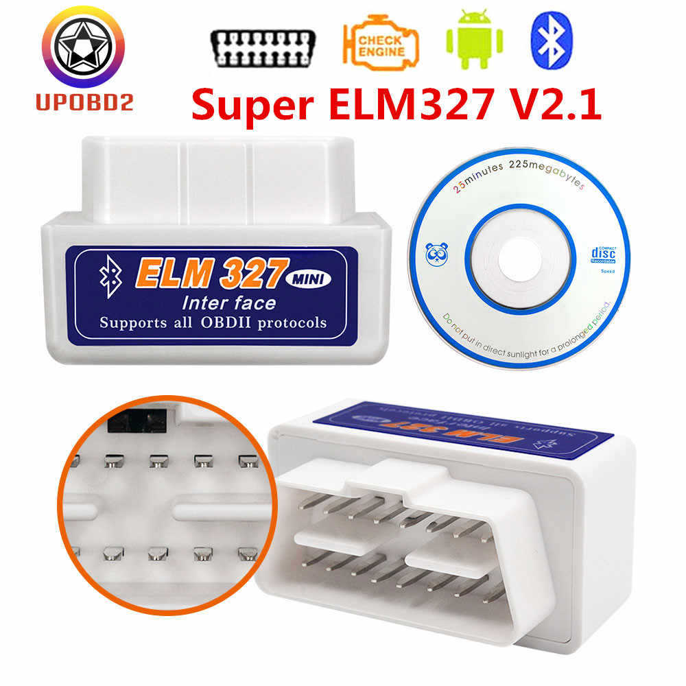 OBD 2 ELM327 2.1 Bluetooth Code Reader OBDII OBD2 Interface ELM327 Bluetooth V2.1 OBD2 Car Diagnostic Tool For Android Windows