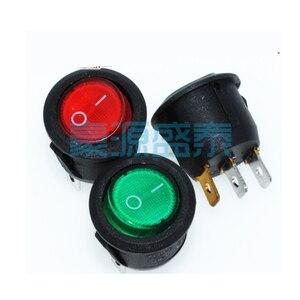 20 шт./лот KCD1 Круглый кулисный переключатель 3Pin 3P 2-Positon 6A/250В 20 мм красный/зеленый