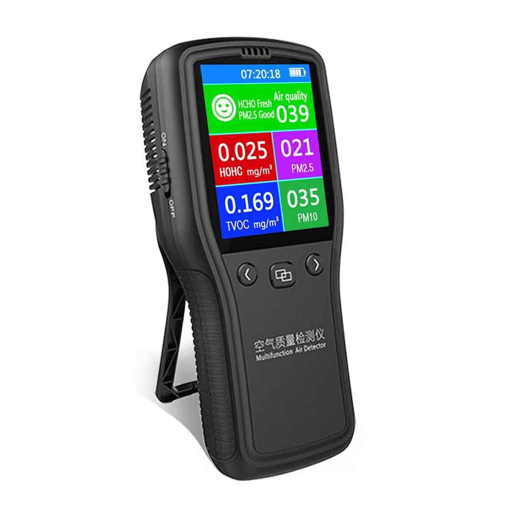 8 In1 PM2.5 PM10 LCD Digital Detector Formaldehyde HCHO TVOC Air Quality Monitor