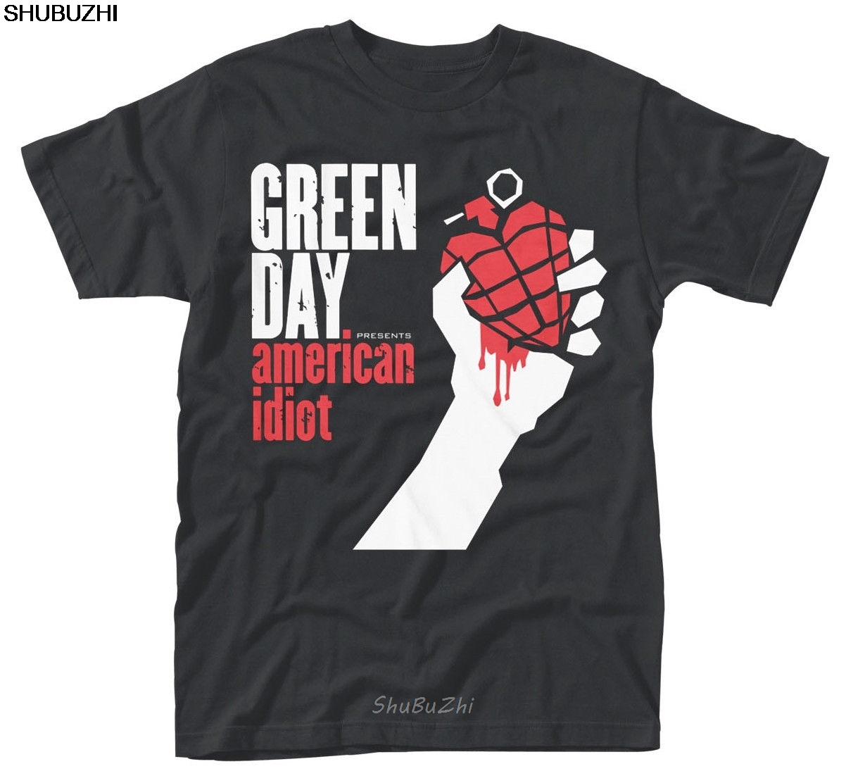 Green Day ' AMERICAN IDIOT ALBUM COVER ' T-SHIRT - Nuevo Y Oficial Men Cotton T-shirts Summer Brand Tshirt Euro Size  Sbz3330