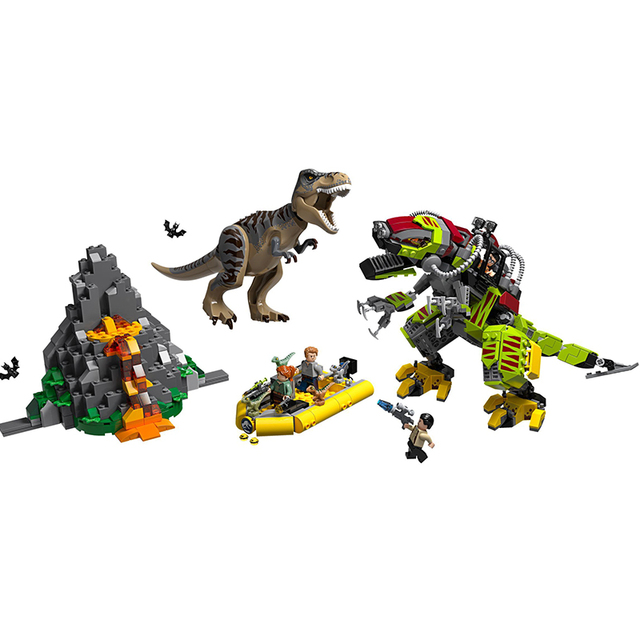 New Jurassic Park World Dinosaur Dinosaurs Spinosaurus Assault Figure Building Block  With 73934 75935 75937 75938