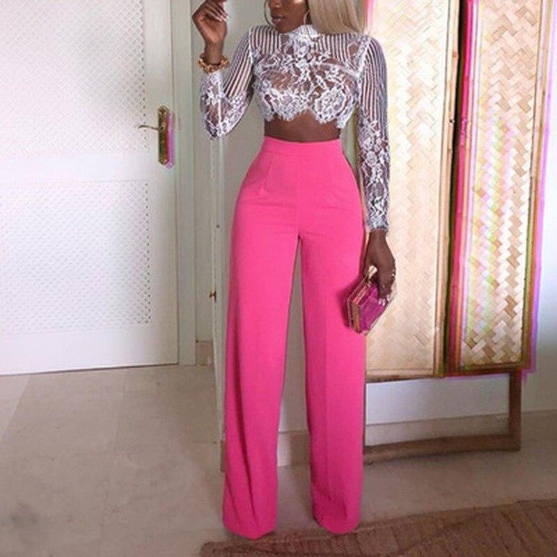 ZOGAA Autumn Women   Wide     Leg     Pants   Solid High Waist Loose Trousers Female Full Length Dress   Pants   Fashions Elegant   Pants   2019 HOT