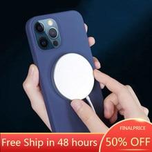 MagSafe-Funda de silicona líquida oficial para IPhone X/XS/XR/XS MAX/11/12 PROMAX 1:1, cubierta de carga inalámbrica CA