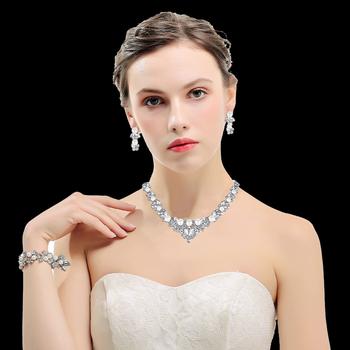 Mecresh kolor srebrny biżuteria ślubna dla nowożeńców dla kobiet unikatowy elegancki naszyjnik kolczyki bransoletka komplety biżuterii TL280 + SL089 tanie i dobre opinie Ze stopu cynku CN (pochodzenie) Kobiety Pearl Symulowane perłowej TRENDY 3 Pcs Sets(1pcs Necklace + 1 pair Earrings + 1pcs Bracelets)