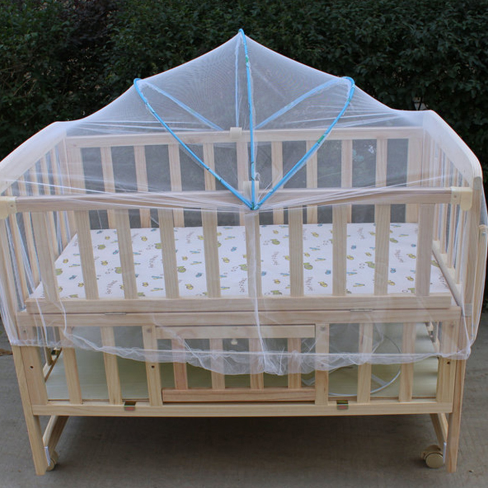 Baby Toddler Mosquito Net Crib Bassinet Bed Canopy Bug Fly Bites Baby Durable Mosquito Curtain Cradle Bed Elastic Mosquito Bar