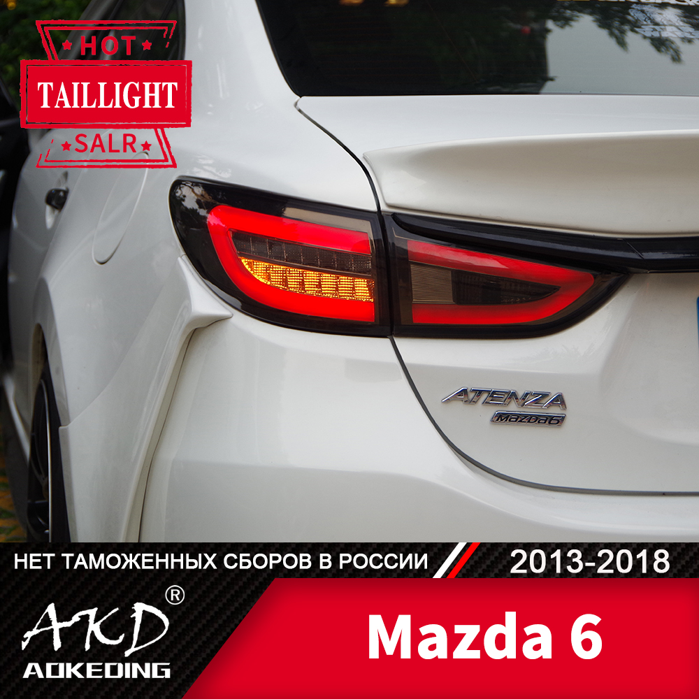 Tail Lamp For Car <font><b>mazda</b></font> <font><b>6</b></font> 2013-2018 mazda6 LED Tail <font><b>Lights</b></font> Fog <font><b>Lights</b></font> Day Running <font><b>Light</b></font> DRL Tuning Cars Accessories image