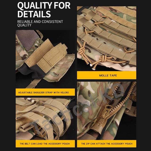 Tactical JPC 2.0 Vest Assault Lightweight Combat Vest Adjustable Vest Military Army Molle Hunting Plate Carrier 4