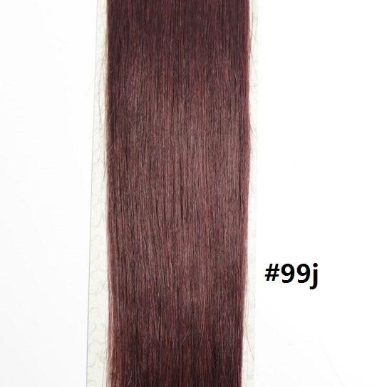 Chocola, бразильские волосы remy на всю голову, 10 шт. в наборе, 280 г, 16-28 дюймов, натуральные прямые человеческие волосы для наращивания на заколках - Цвет: # 99J